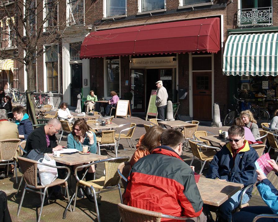 winkelen leiden grand cafe de stadthouder